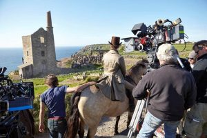 Poldark filming at Botallack Engine House