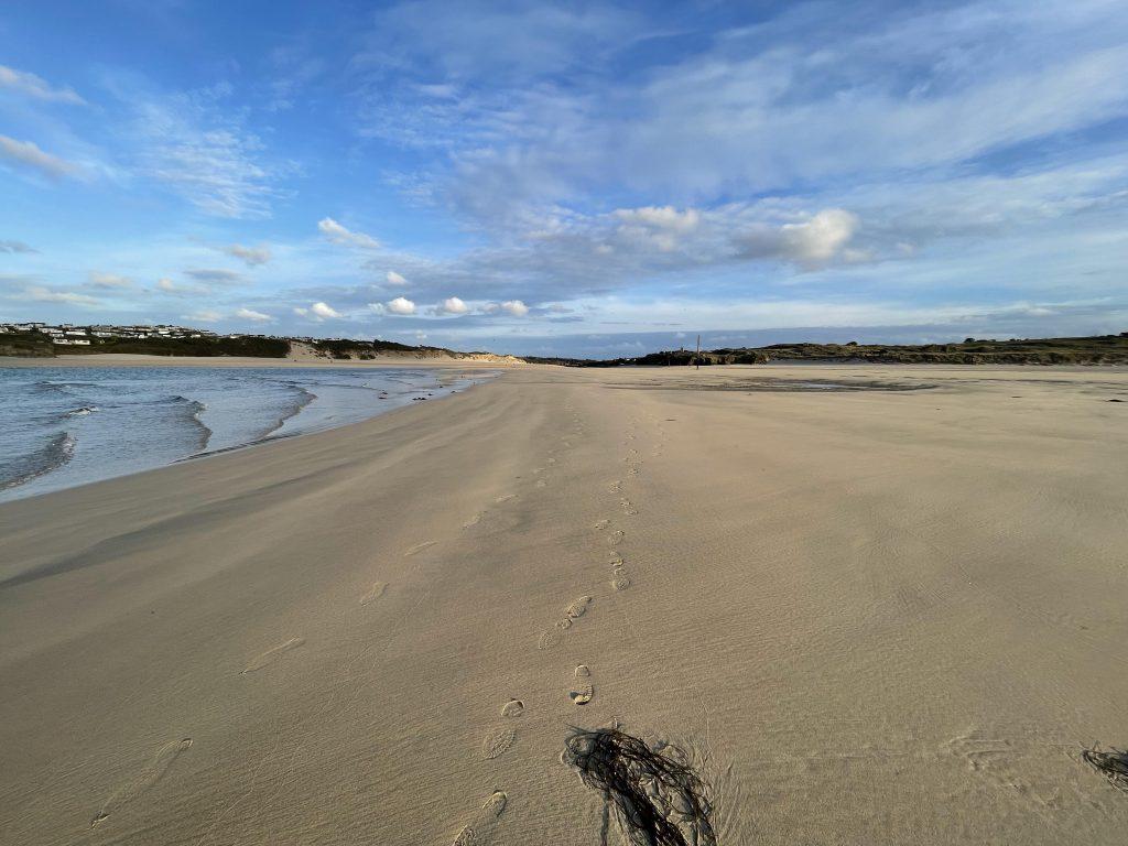 Porthkidney beach near Beachpads in Cornwall