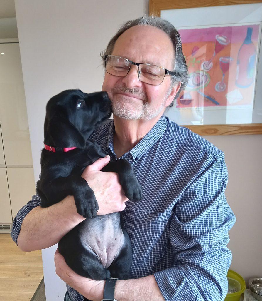 Julian Rand, Cornwall Councillor and his puppy Jet